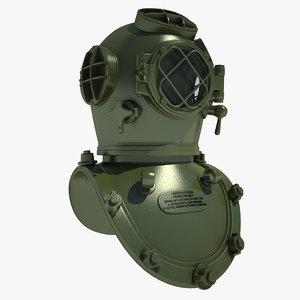 3d diving helmet old