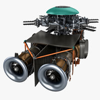 helicopter engine 3 3d model