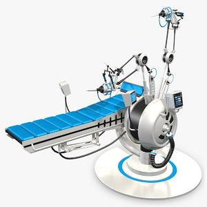 futuristic medical bed 3ds