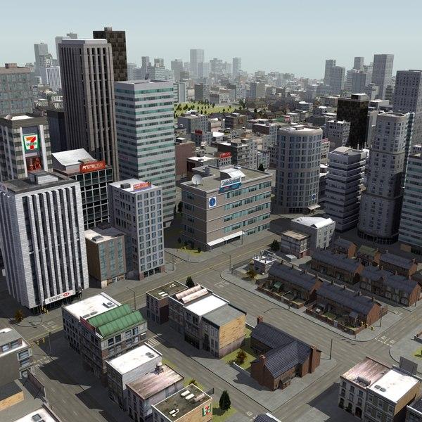 city scene rt 3d model