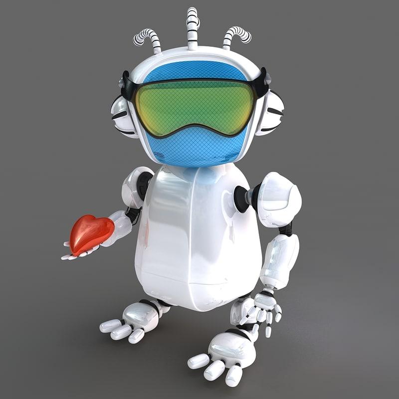 3d robot bot model