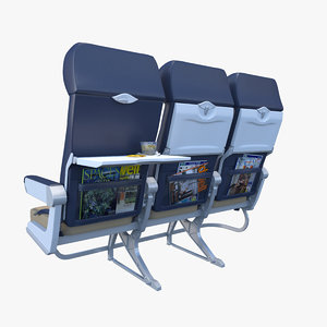 airline chairs 3d max