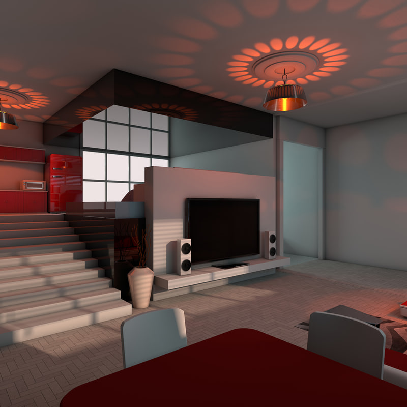 cinema4d stylish apartment