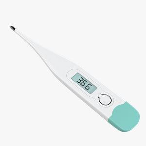 3d waterproof digital thermometer model