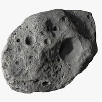 3dsmax asteroid meteoroid rock