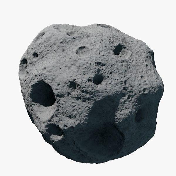 3d asteroid meteoroid rock