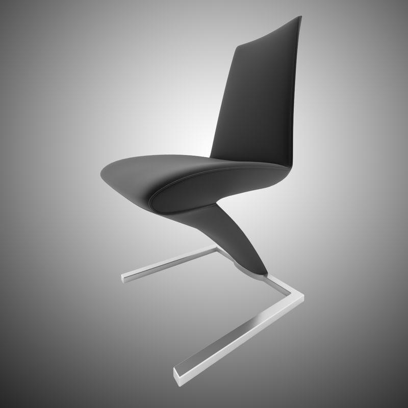 3d chair rolf benz 7800 model