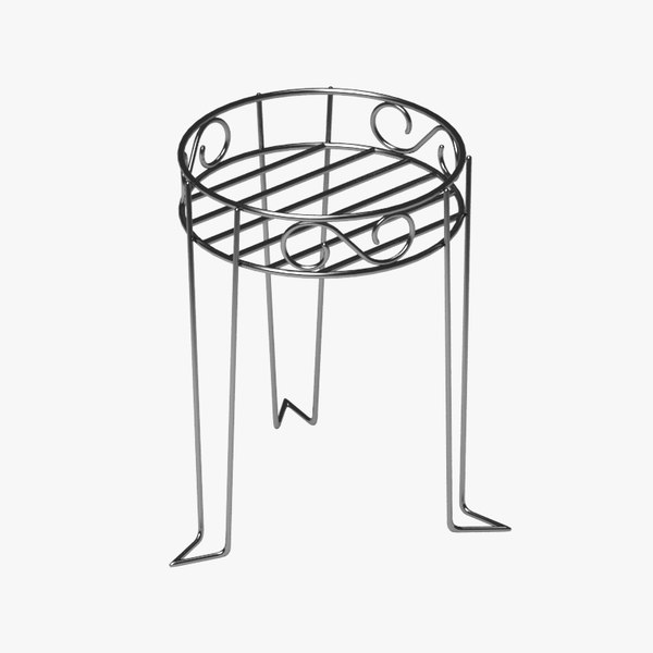 3d flower pot support model