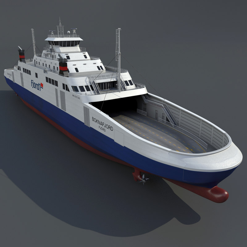 ship lng ferry 3d model
