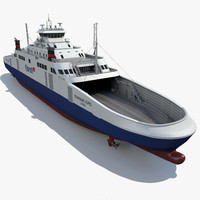 ship lng ferry 3d model