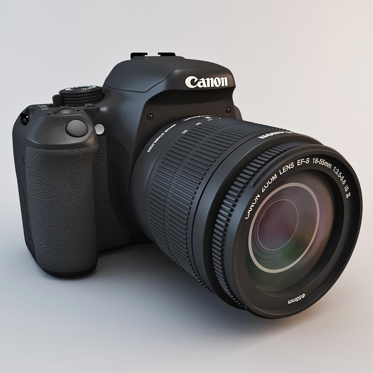 3d model of canon eos rebel t3i