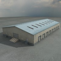 warehouse ware house 3d model