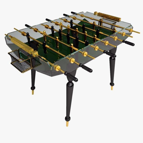 diamond classic gold foosball table 3d max