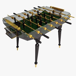 diamond classic gold foosball table 3d max