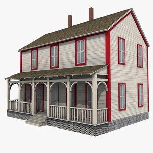 farmhouse house 3d model