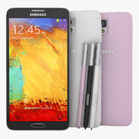 Samsung Galaxy Note 3 Flagship Smartphone Black White And Pink