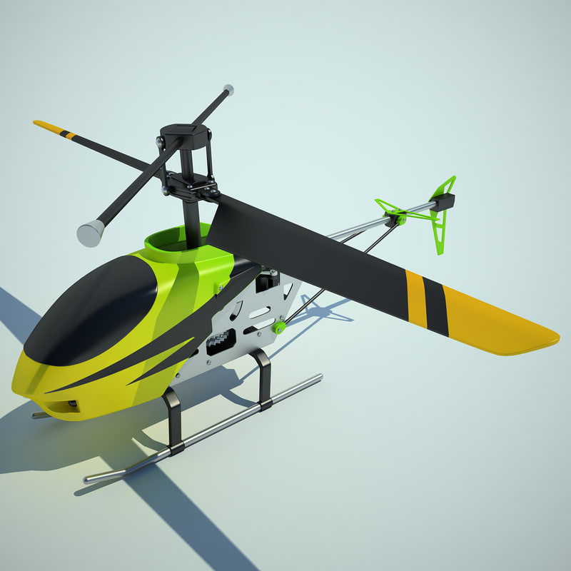 mini helicopter 3d max