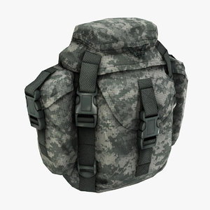 army military soldier buttpack 3d max