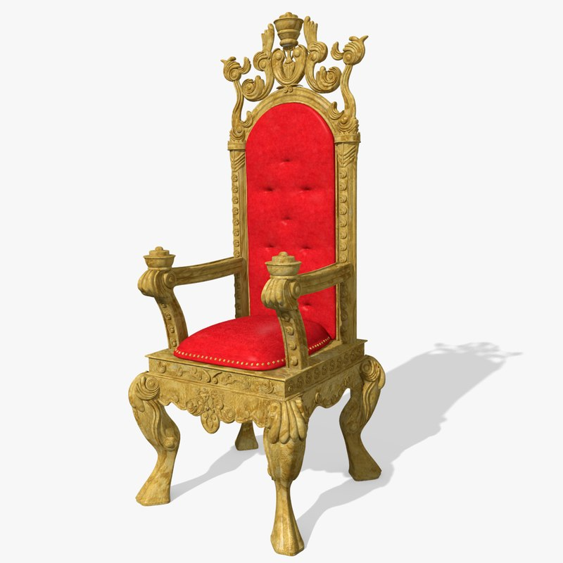 3d king s throne chair