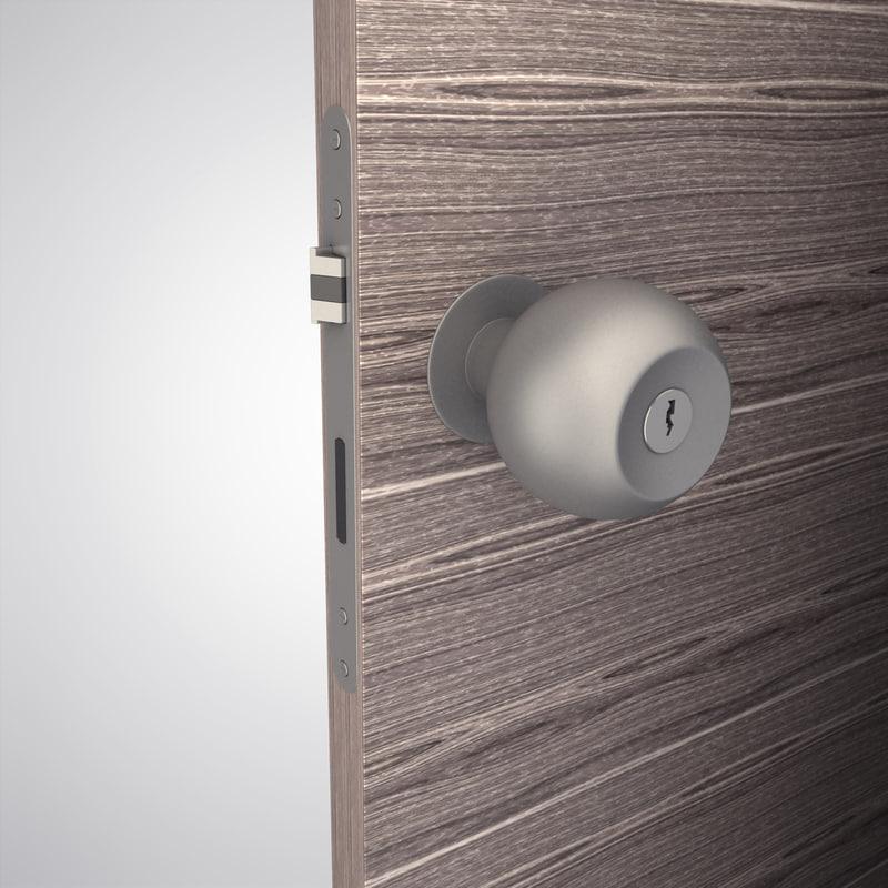 handle door knob 3d model