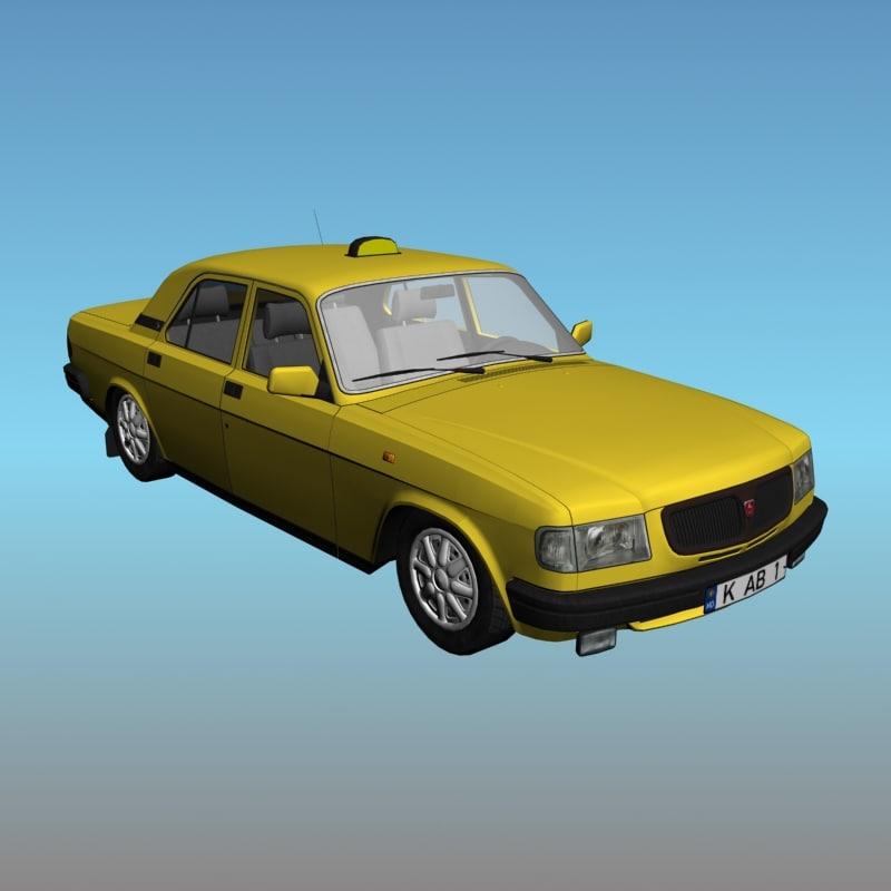 3ds max volga taxi