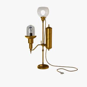 3d steampunk lamp model