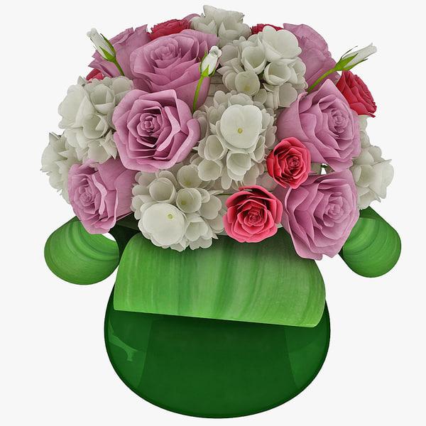 flower bouquet 3d model
