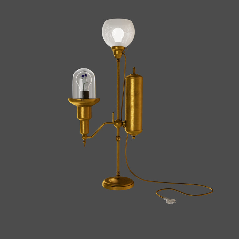 3d steampunk lamp model