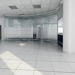 bank interior furniture 3d model