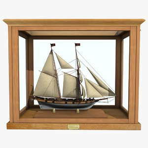 3d sailboat chasseur clipper
