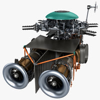 helicopter engine 2 3d model
