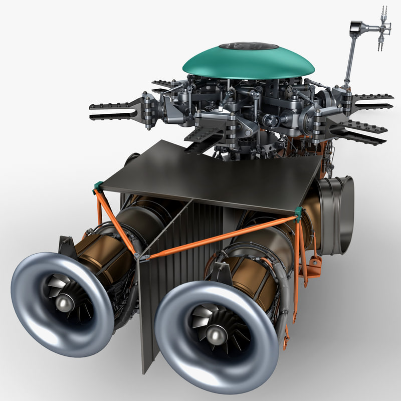 helicopter engine 2 3d model