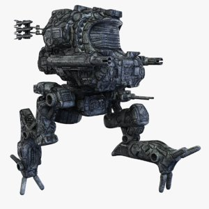 3d model robot mech rigged