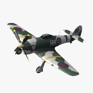 3ds hawker typhoon aircraft