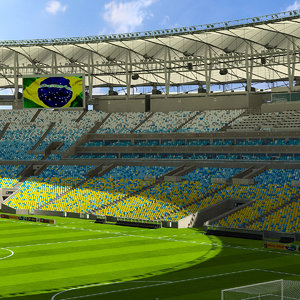 3d maracanã soccer model