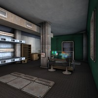 3d model science fiction interior