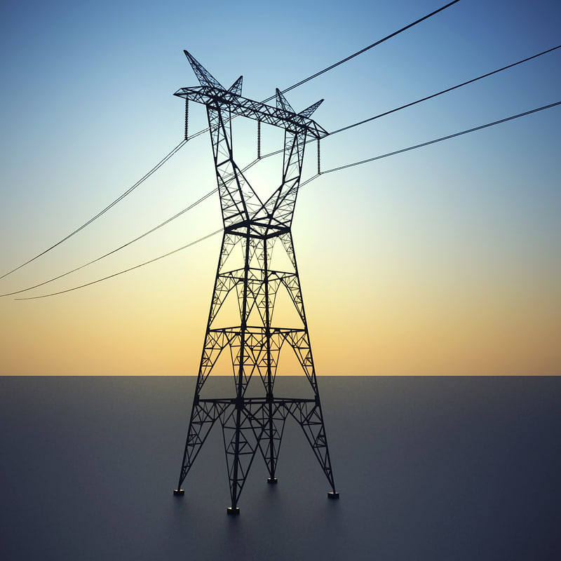 powerline pylons 3d model