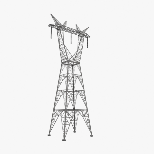 powerline pylons 3d model