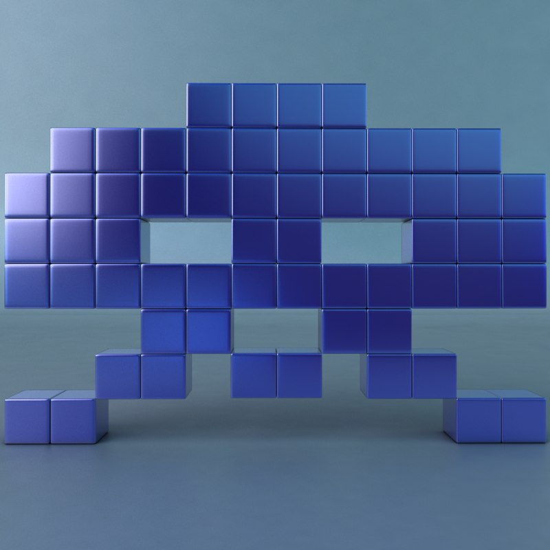 3ds max alien space invaders