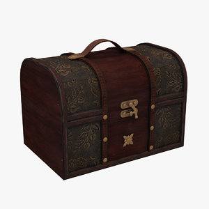 3d model antique box
