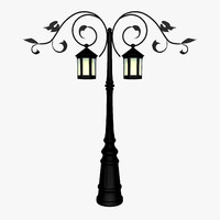 lamp lights post 3ds