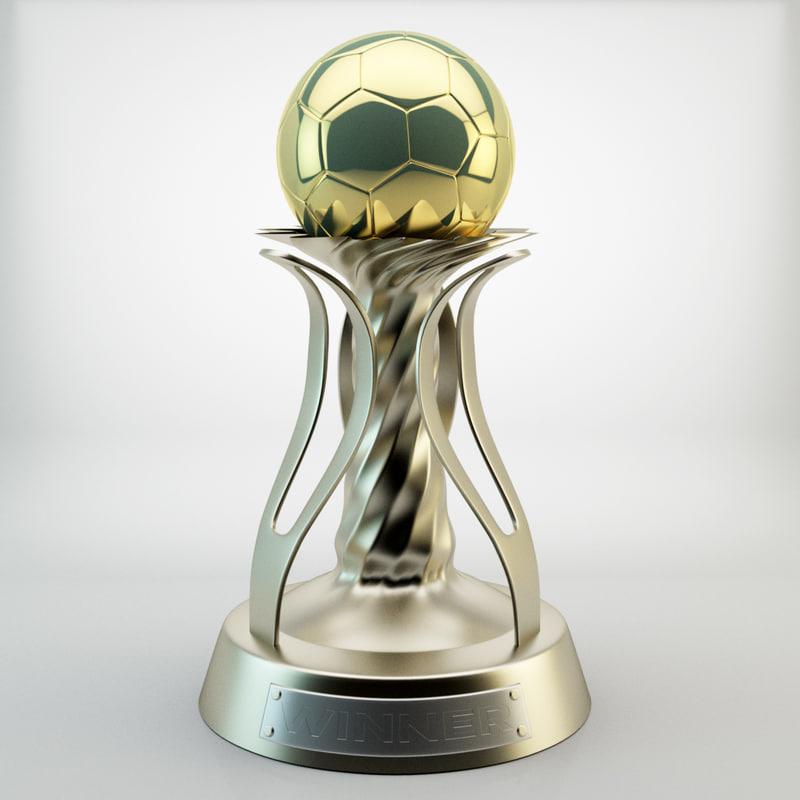 trophy cup 3d max