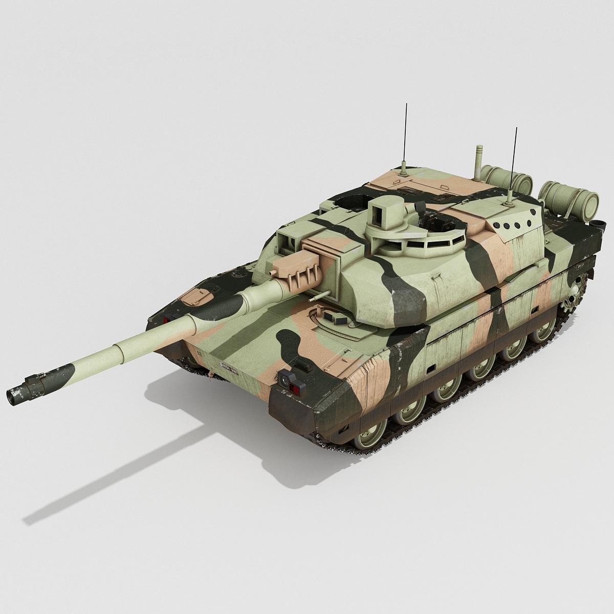 3d french amx-56 main battle tank model