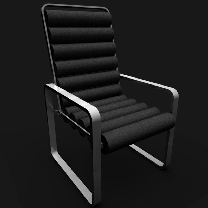 roller chair 3d c4d
