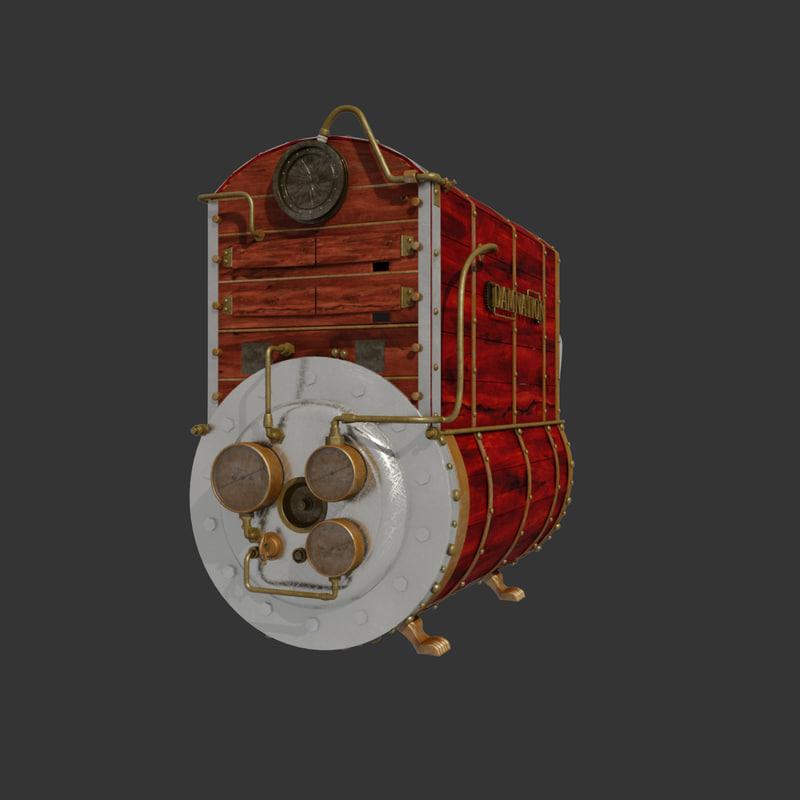 steampunk computer 3d model