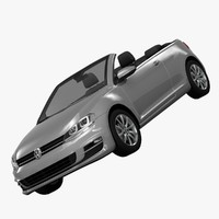 3d model volkswagen golf cabriolet
