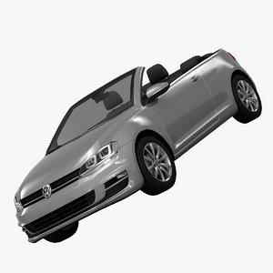 3d model volkswagen golf cabriolet