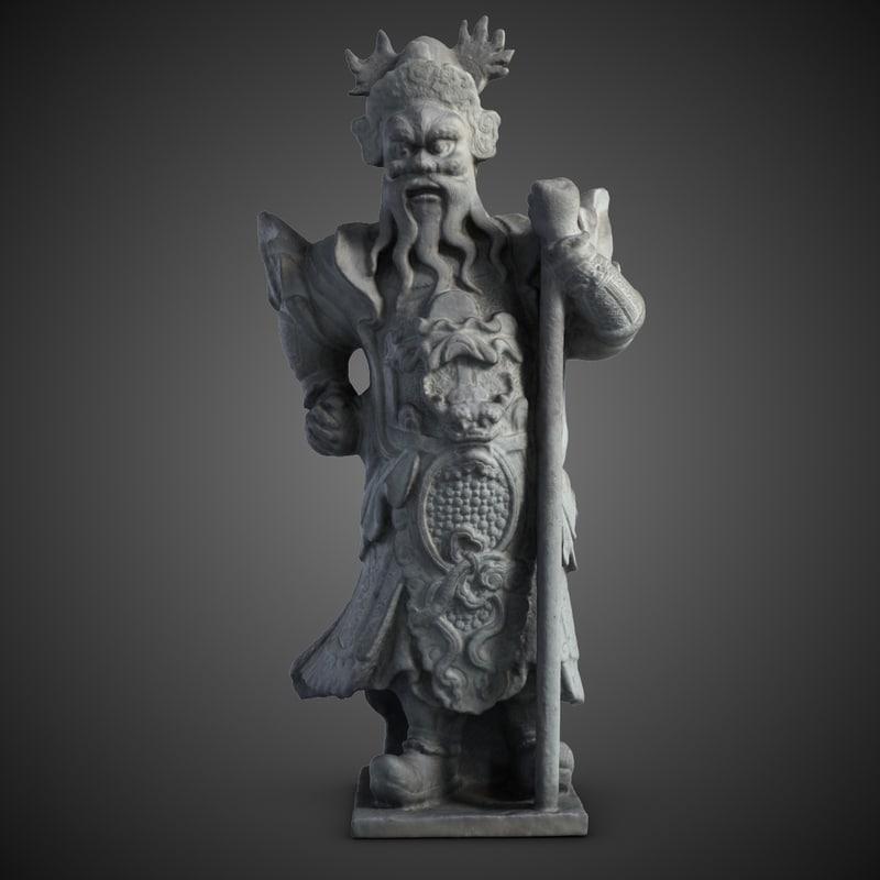 3d thailand statuette guardian guard