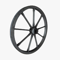 old wood wheel 3d 3ds