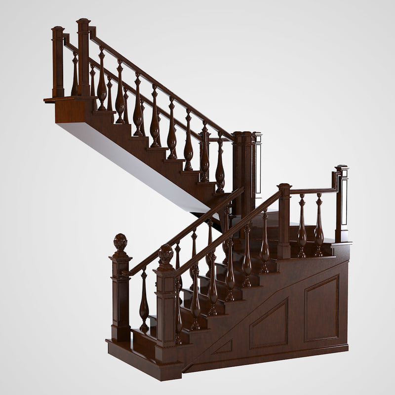 3d max english staircase for Escaleras 3d max
